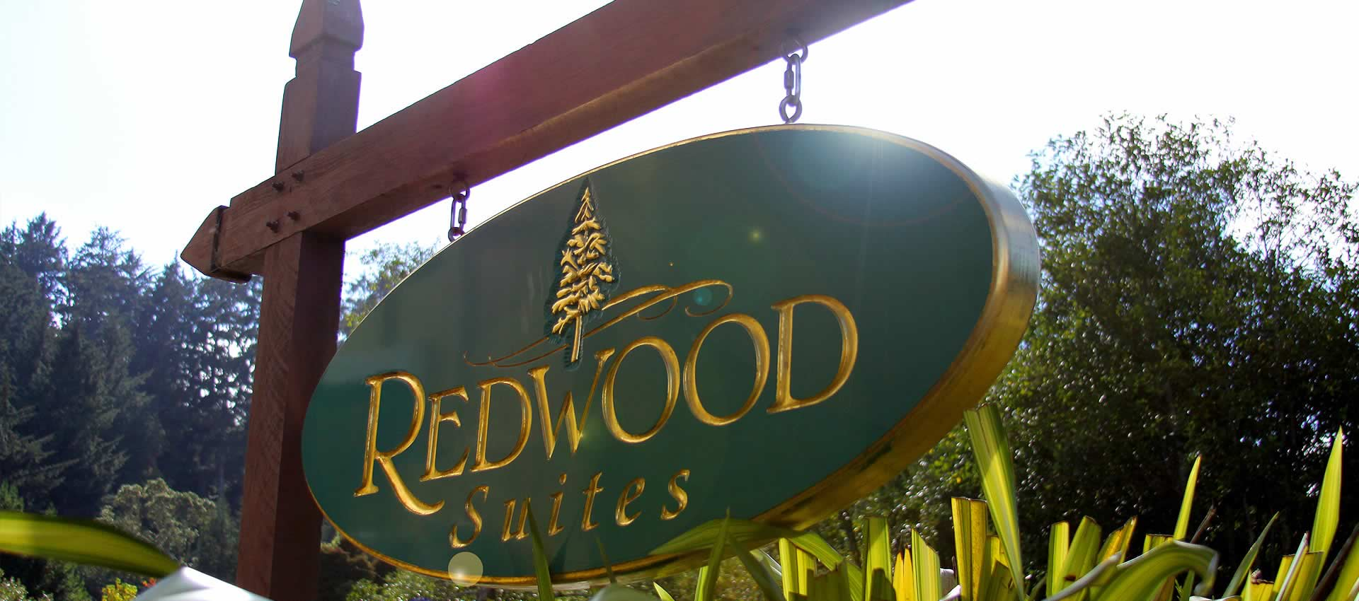 redwood suites contact front sign